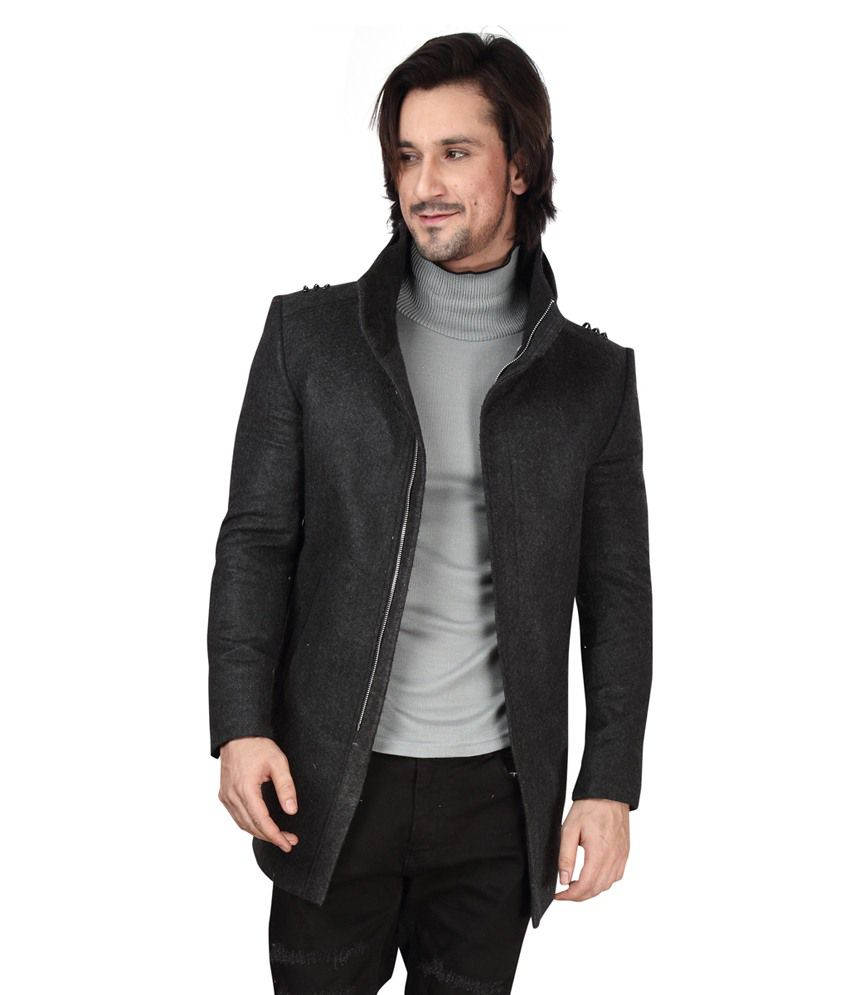 Dheerajsharma Black Woollen Blazer