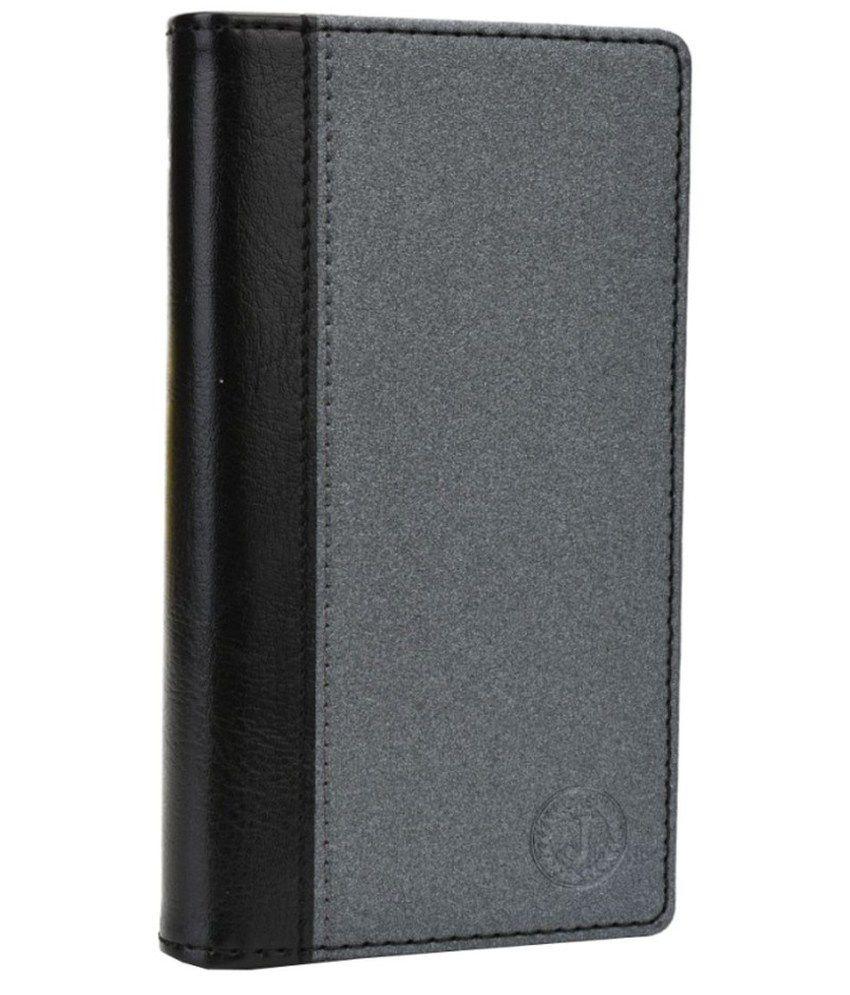 Jo Jo Flip Cover For HTC Desire 516c - Grey