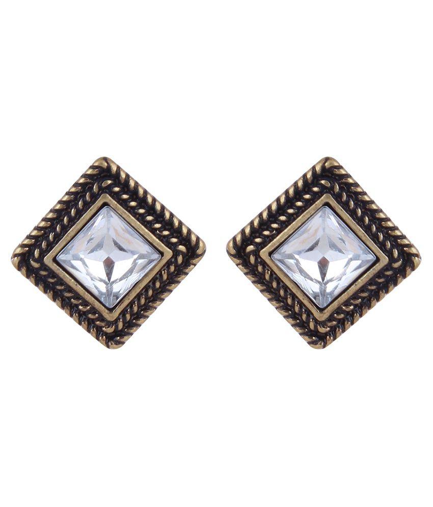 La Amber Square Stud Earrings For Women