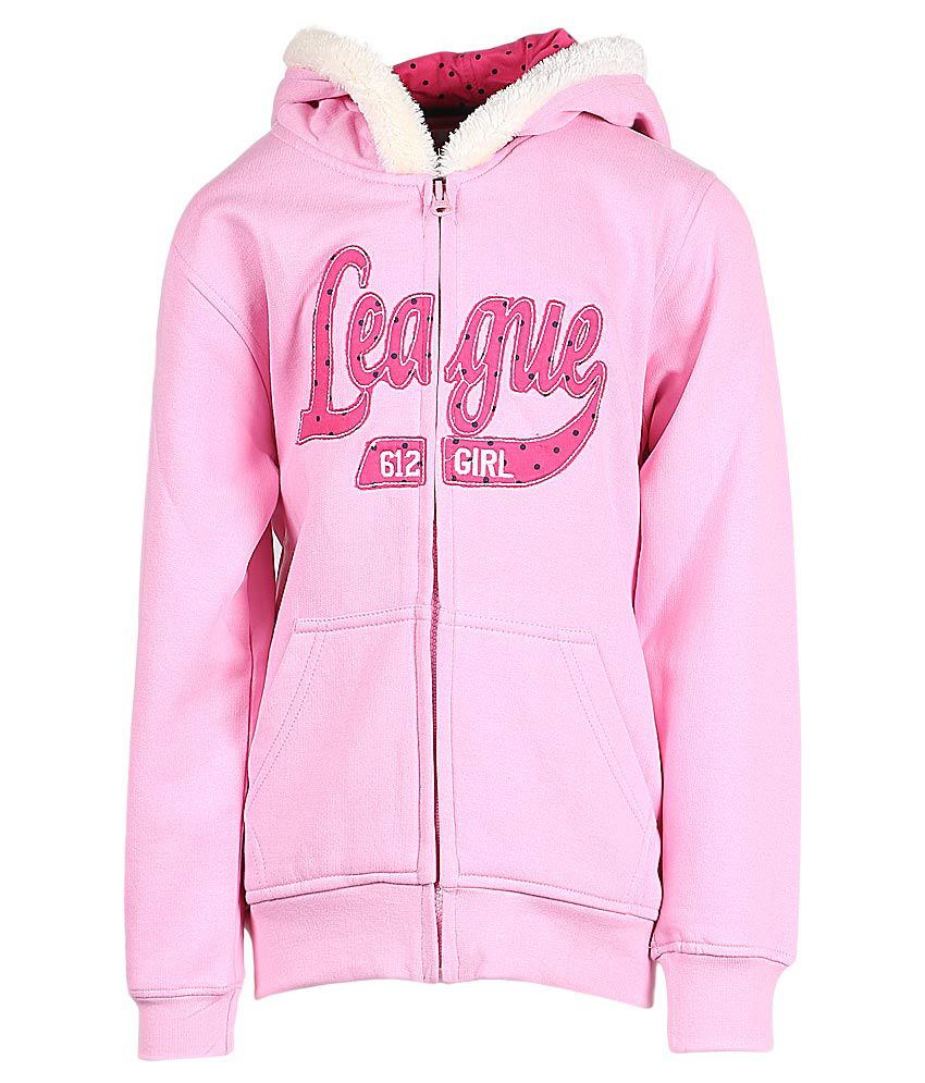 612 League Pink Hooded Zipper Sweatshirt
