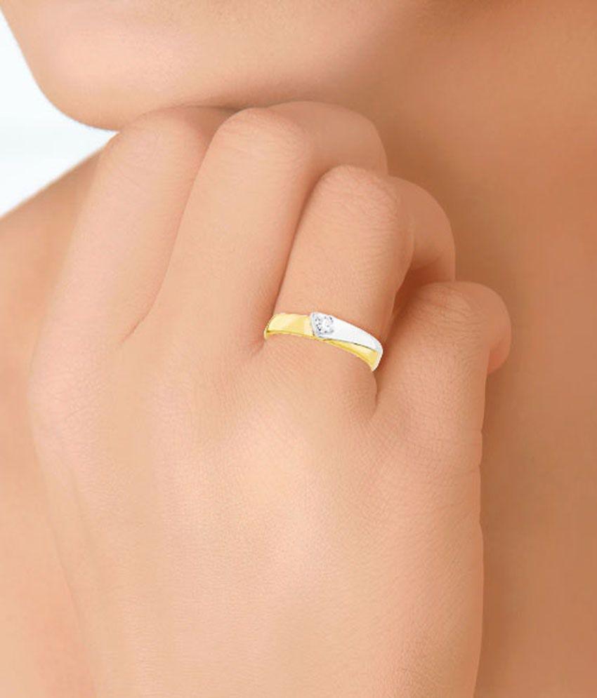 D\'damas 18 Kt Gold & Diamond Contemporary Ring for Women: Buy D ...