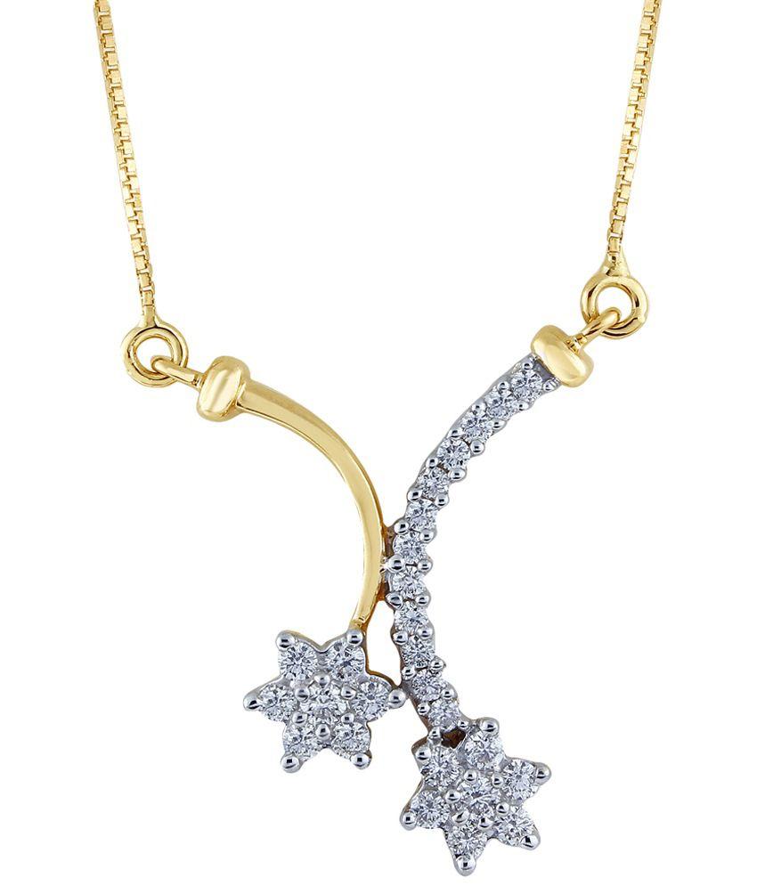 Nirvana 18 Kt Gold & Diamond Floral Necklace