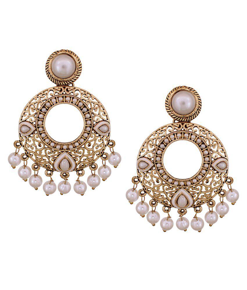 Vendee Fashion Pearl Studded Earrings (8536)