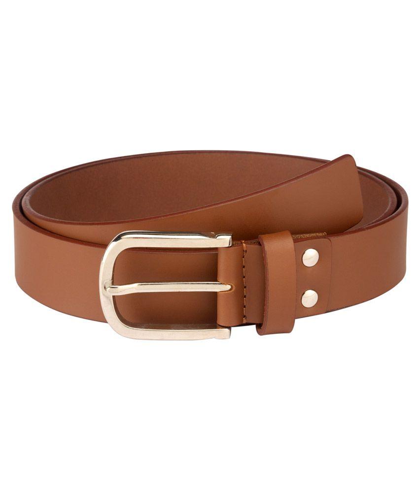 Contrast Men Formal Tan Genuine Leather Belt (tan-06)