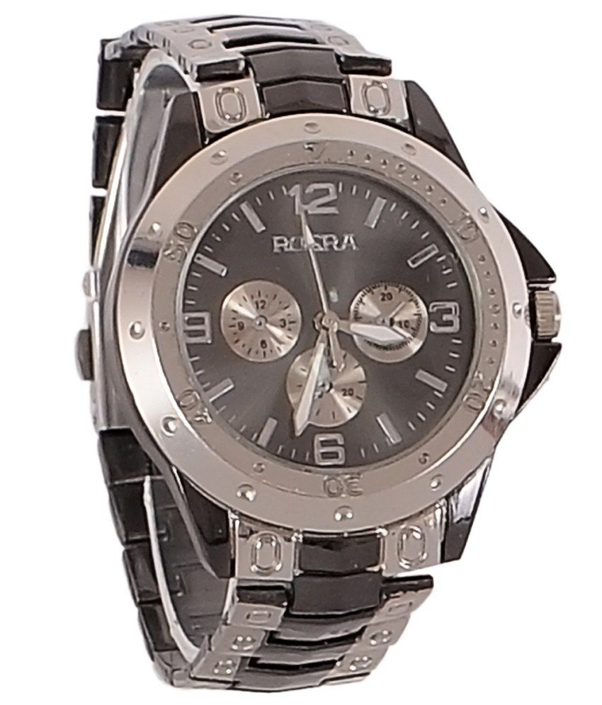 rosra silver steel analog watch buy rosra silver steel
