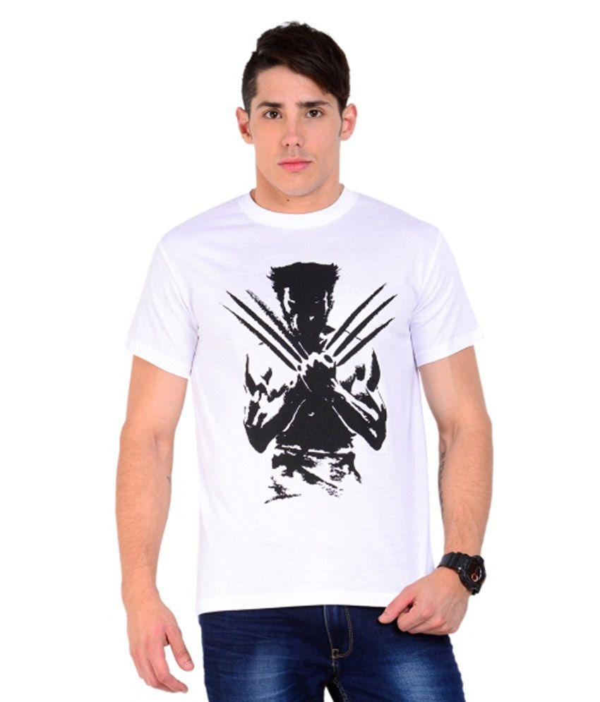 The Trendz Venue White Cotton T-shirt