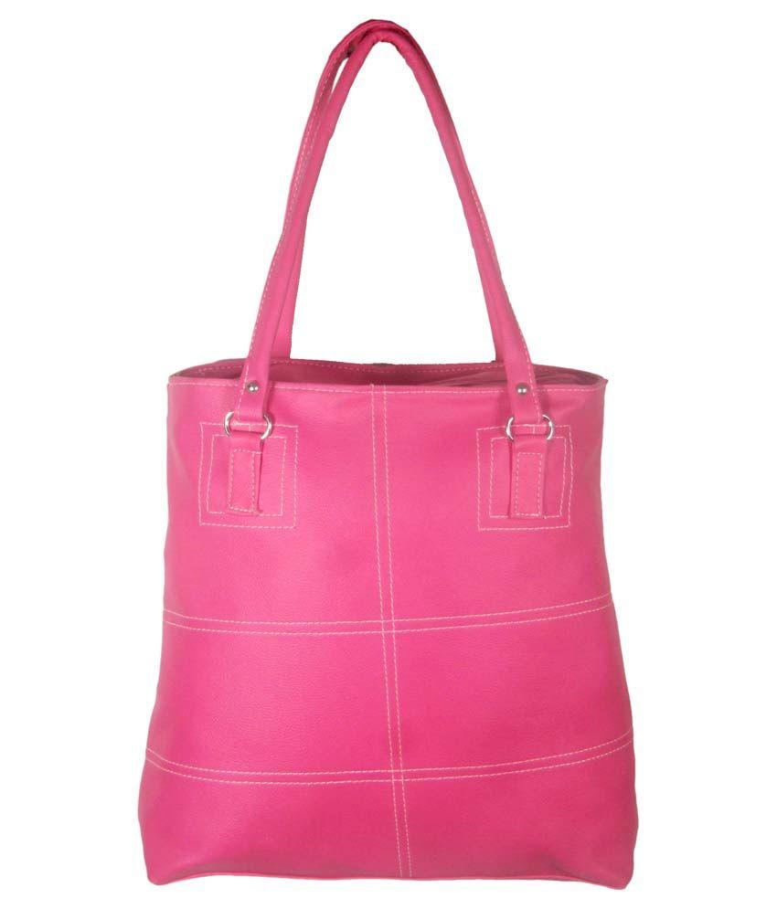 United Bags Pink Zipped Tote Bag