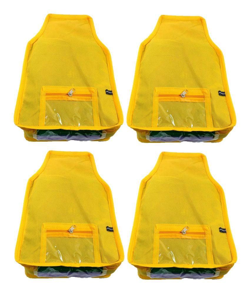 Addyz Yellow Large Non Woven Blouse Covers (4 Pcs)