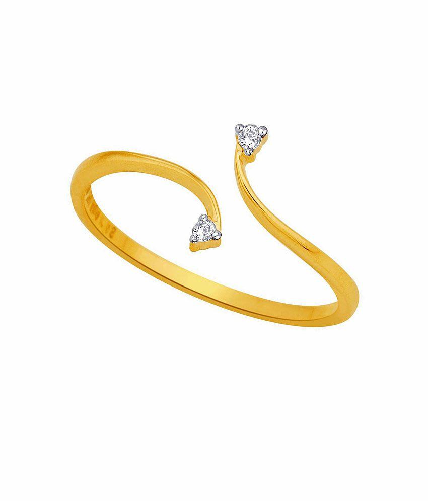 Asmi Shraddha Kapoor 18 Kt Gold & Diamond Contemporary Ring
