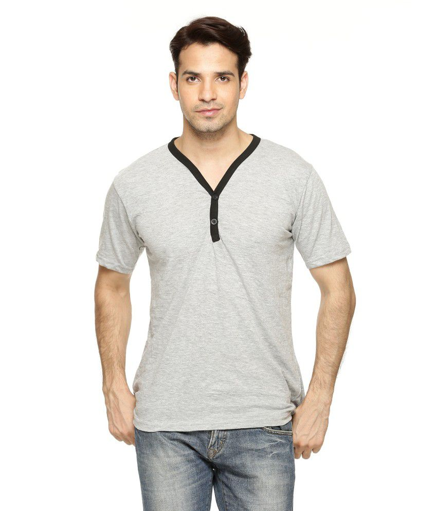 Being Crazy Solid Men'S Henley T-Shirt