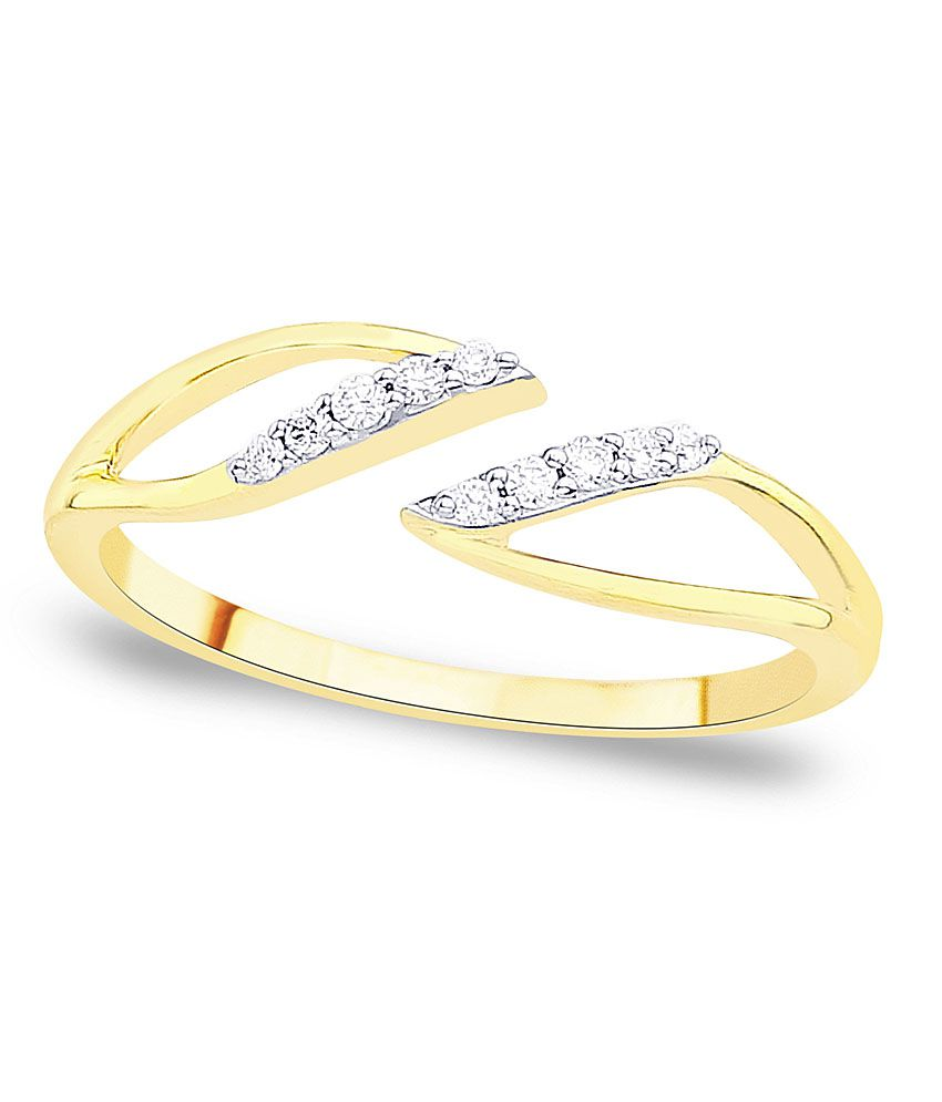 D\'damas Shraddha Kapoor 18 Kt Gold & Diamond Contemporary Ring ...