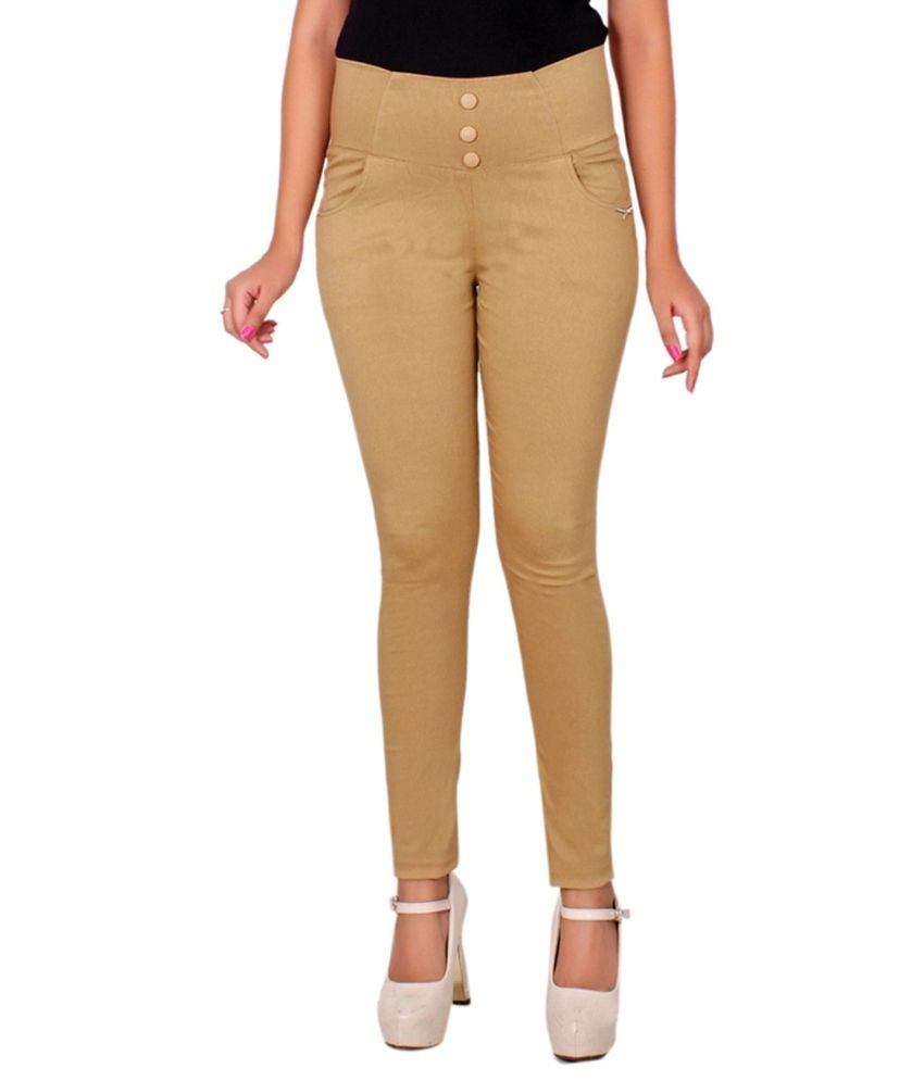 Lgc Beige Poly Cotton Jeggings