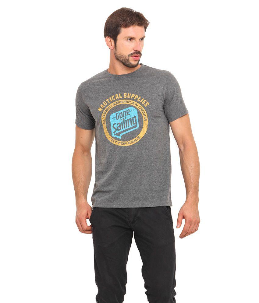 Americania Grey Cotton T-Shirt