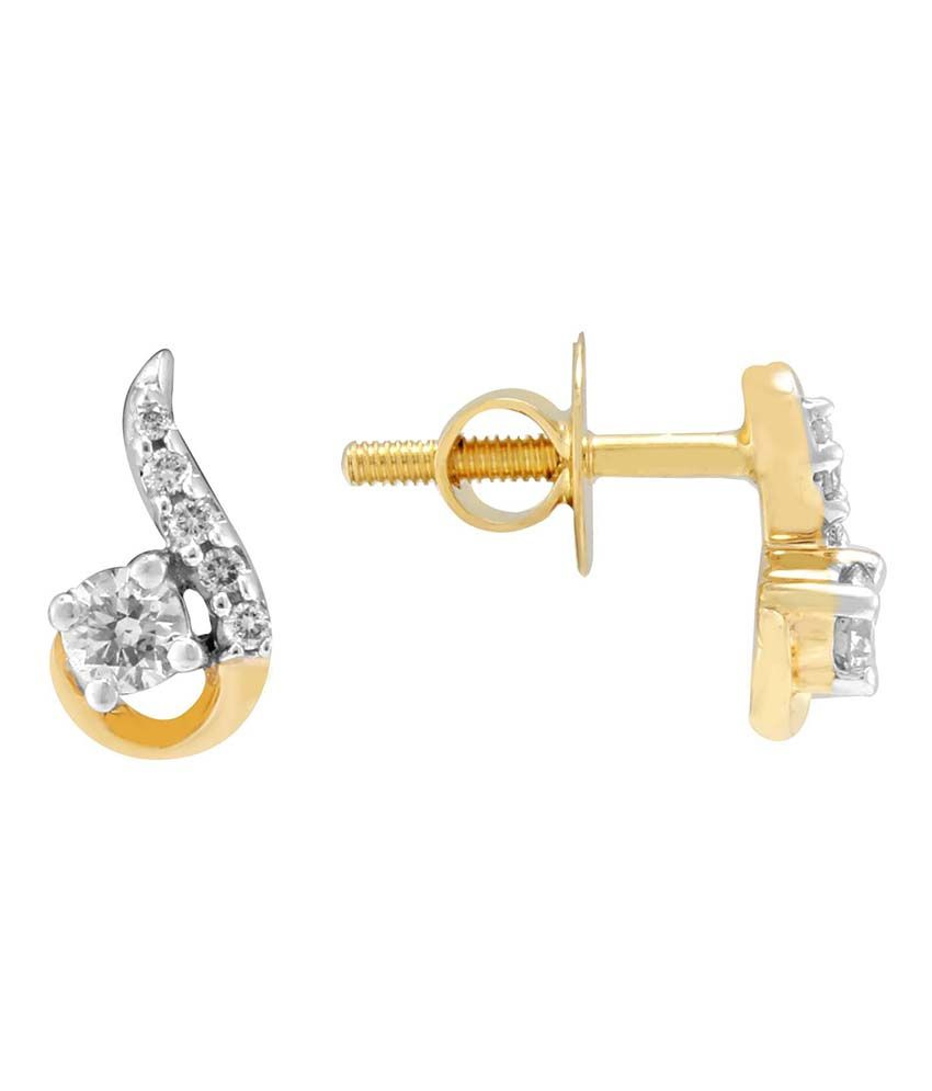 Nakshatra Shraddha Kapoor 18 Kt Gold & Diamond Contemporary Stud Earrings