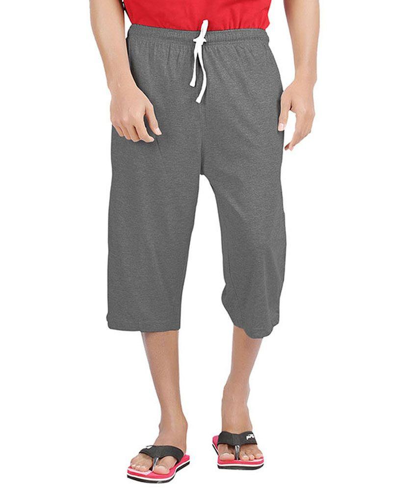 Softwear Grey Cotton Shorts