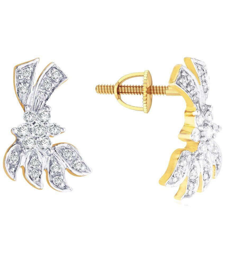 Nakshatra 18 Kt Gold & Diamond Stud Earrings