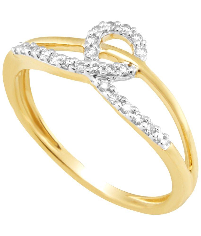 Nirvana 18 Kt Gold & Diamond Contemporary Ring