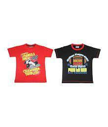 Eteenz Cotton Fashion T-Shirt (Pack of 2)