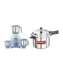 Prestige Stylo 550 Watts Mixer Grinder with 5 Litre popular Cooker Free