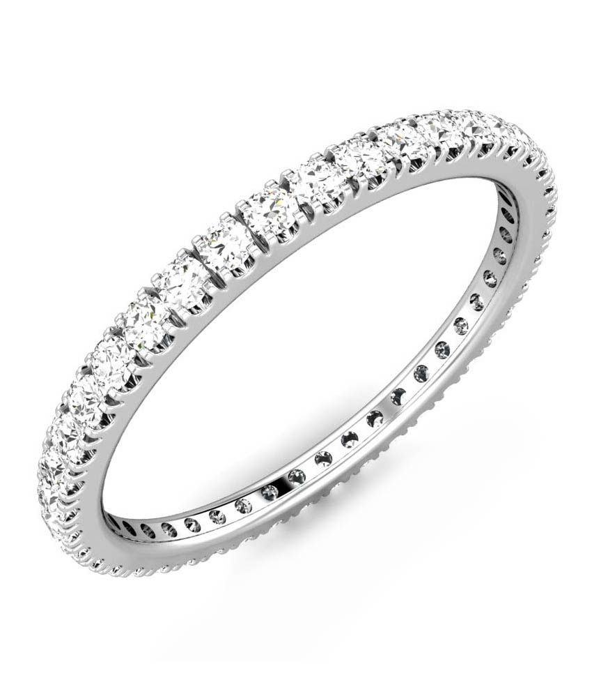 Candere Ekta White Gold 18K Diamond Band