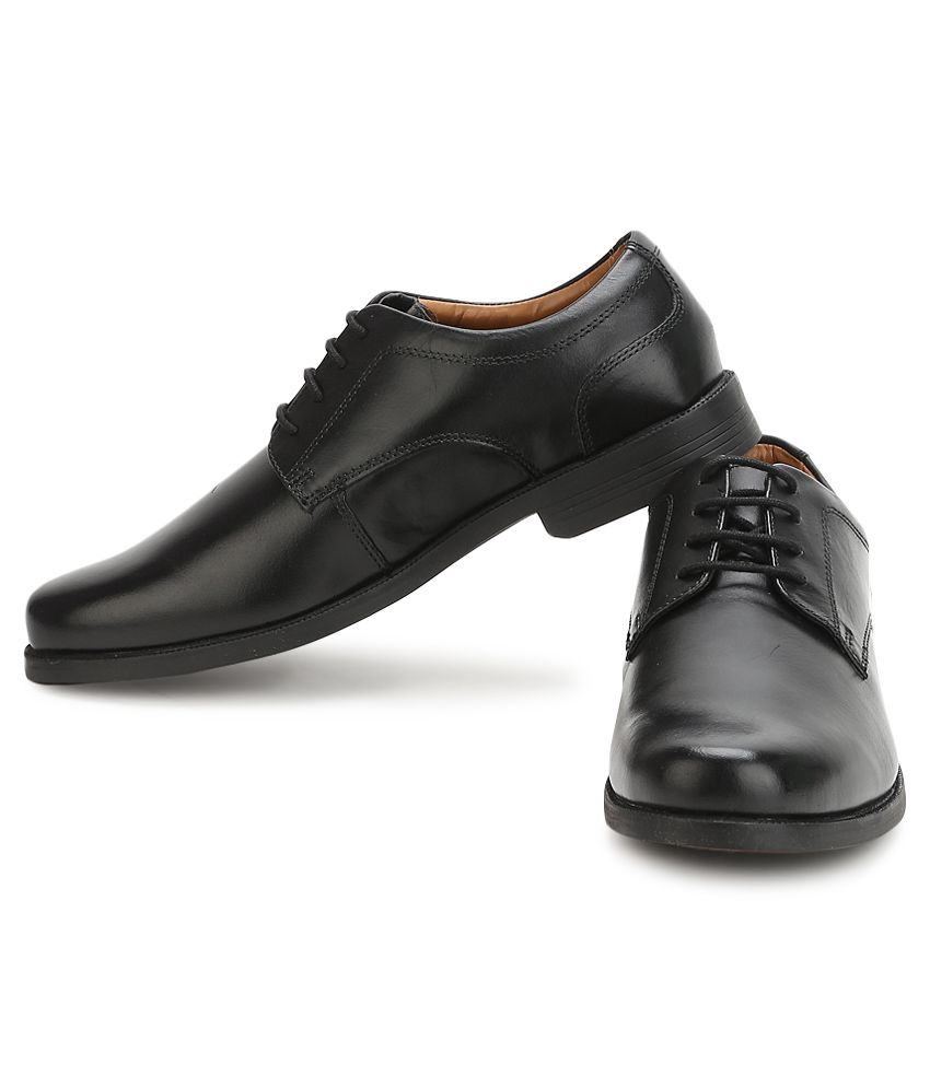 Clarks Beeston Walk Black Formal Shoes