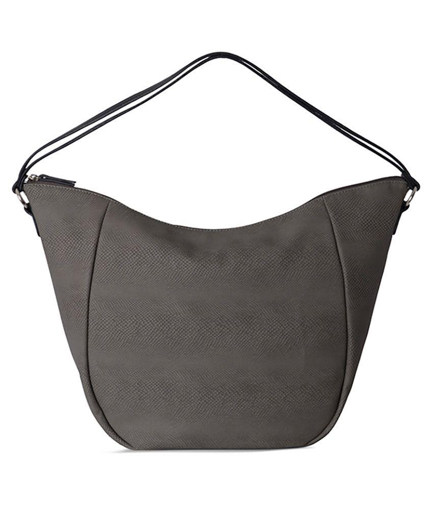 Baggit Pointer Bumpy Gray Tote Bag