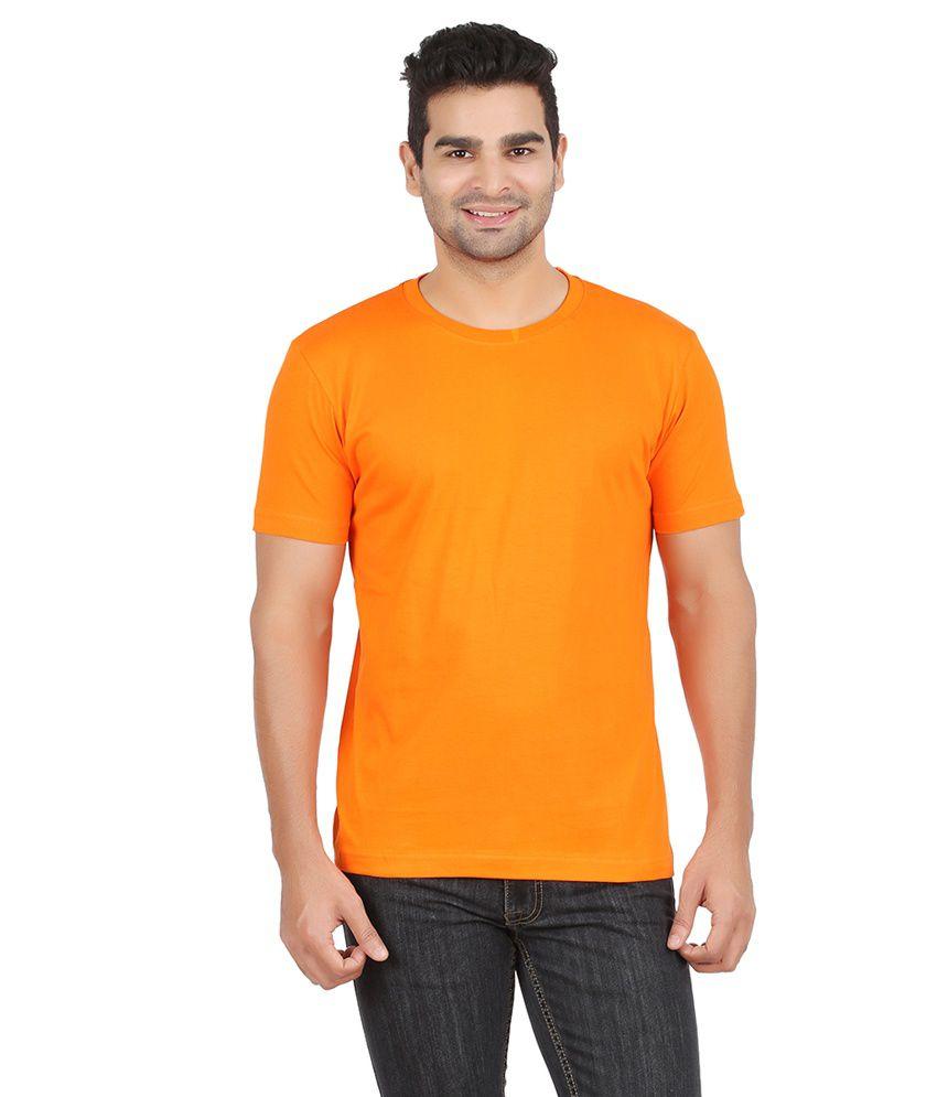 Boson Orange Cotton T-shirt