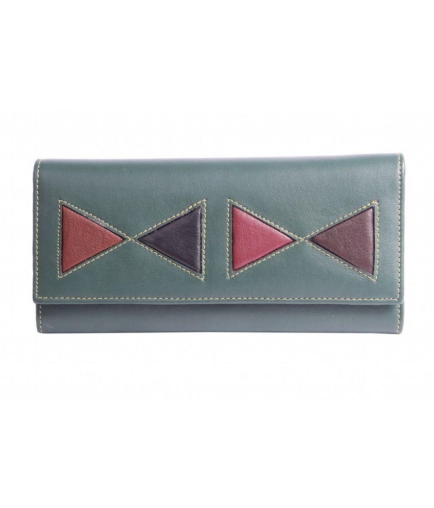 Celladorr Non Leather Green Women Regular Wallet