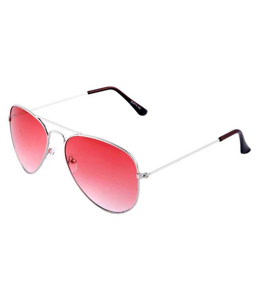 Mitsky Red Aviator Sunglasses