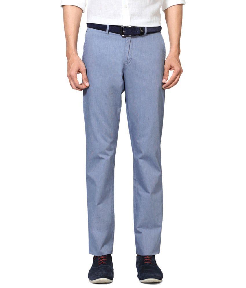Allen Solly Blue Formal Trousers