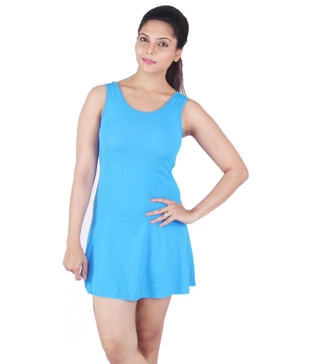 Attiva Blue Female Sleeveless Swimwear/ Swimming Costume