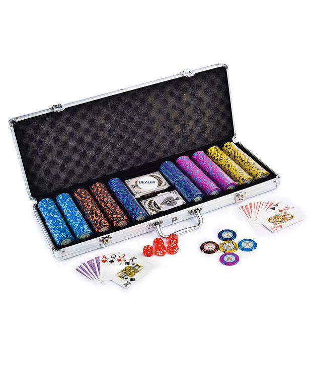 Casinoite Luxuria Monte Carlo Poker Chips Set 500 & Freebie: 2 Decks of Fournier Playing Cards