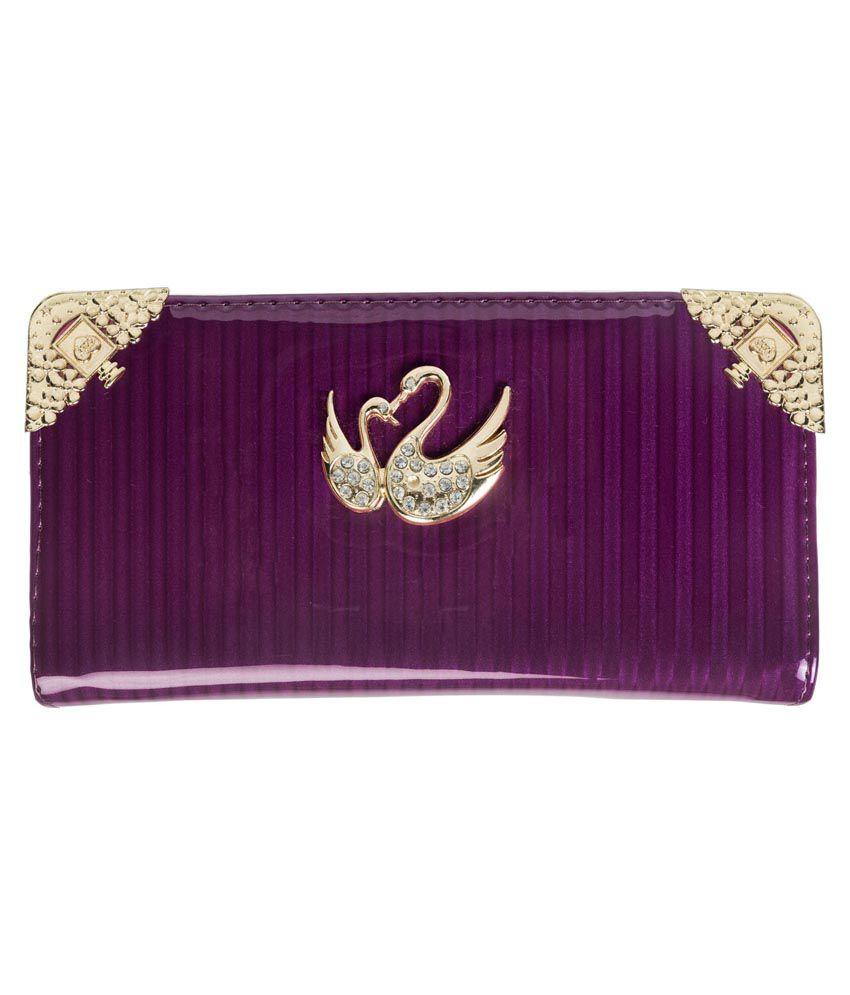 Louise Belgium Purple Regular Wallet