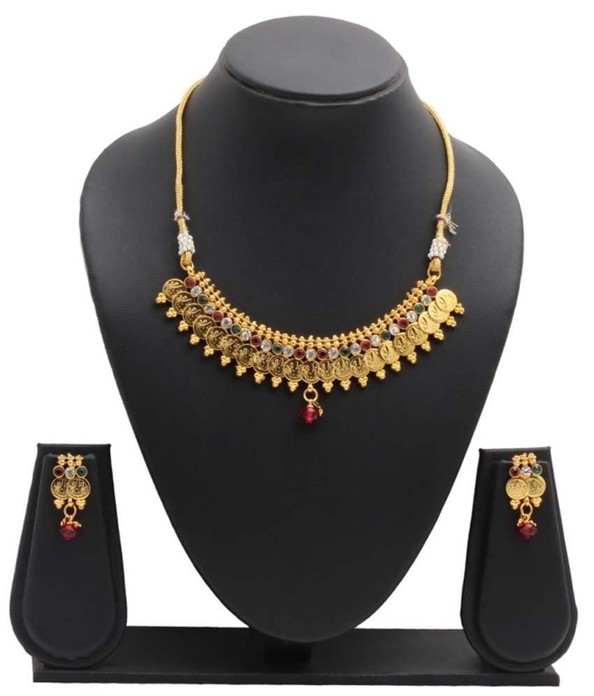 Party Queen Multicolour Alloy Traditional Necklace Set