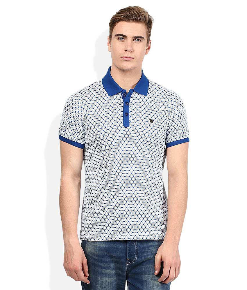Proline Blue Printed Polo T Shirt