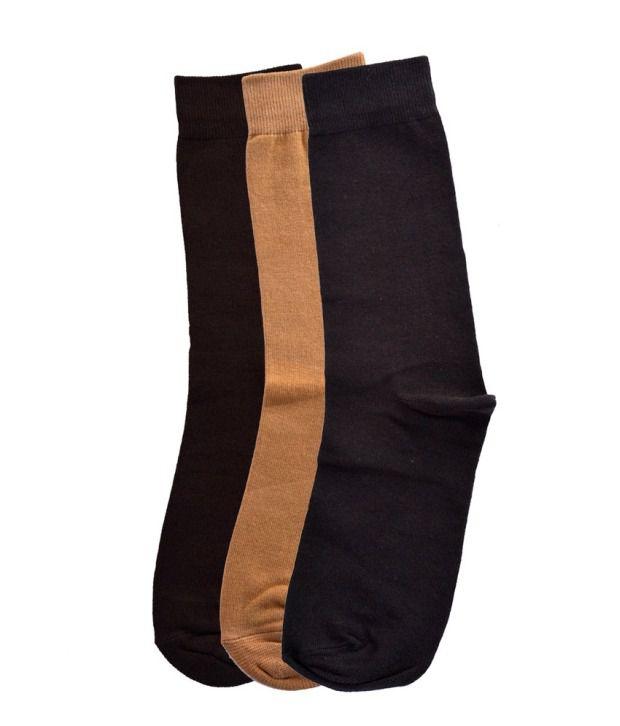 Tossido Multicoloured Ankle Length Socks Pack of 3