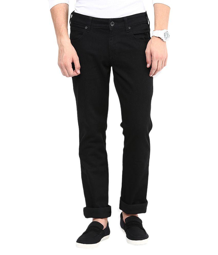 Stud Black Regular Fit Jeans