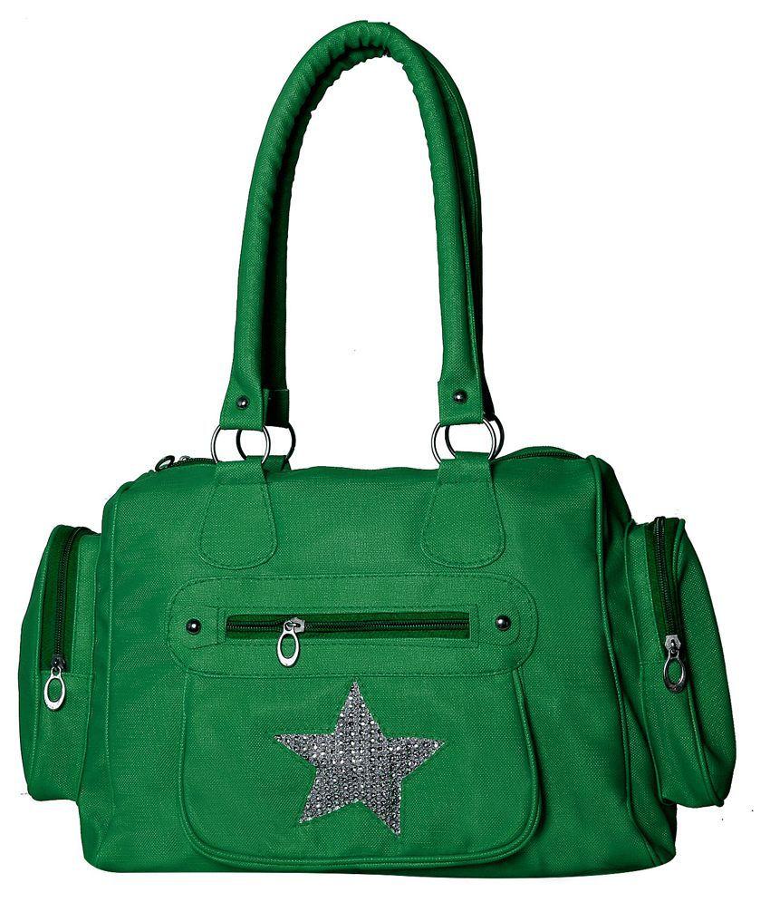 New Zovial Green Shoulder Bag