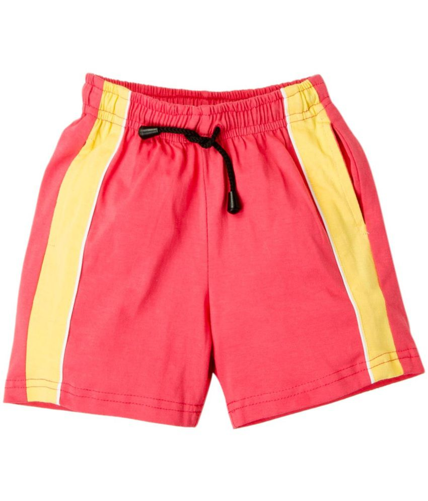 Oye Red Cotton Shorts Online At Low Price Snapdeal
