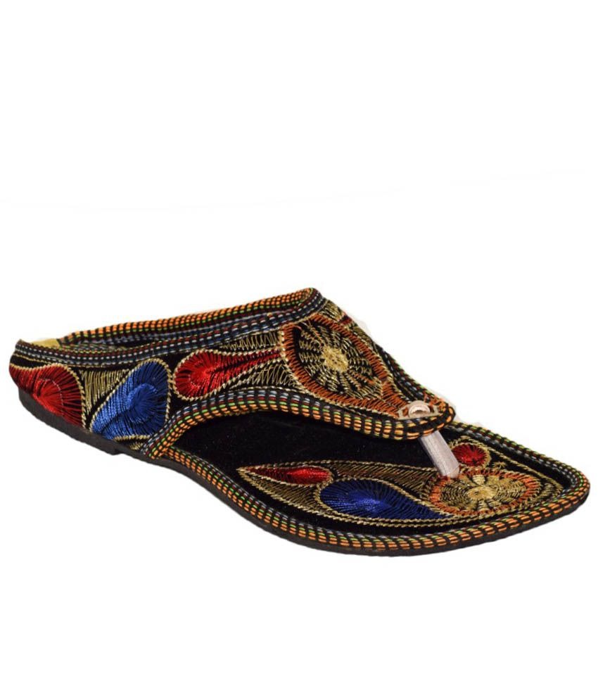 Yatha Multicoloured Flat Slip Ons