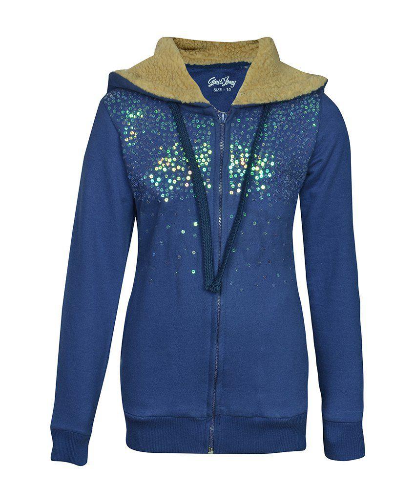 Gini & Jony Blue Full Sleeves Jacket