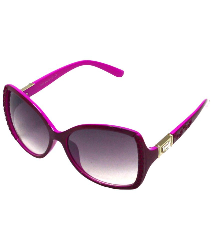 Red Knot Gray & Pink Oval Sunglasses for Women