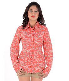S9 W Peachpuff Cotton Blend Shirts