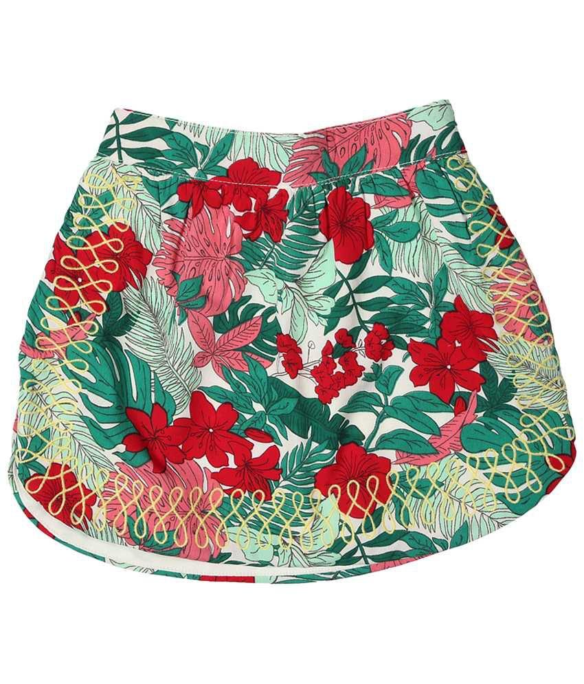Allen Solly Multicolour Printed Skirt