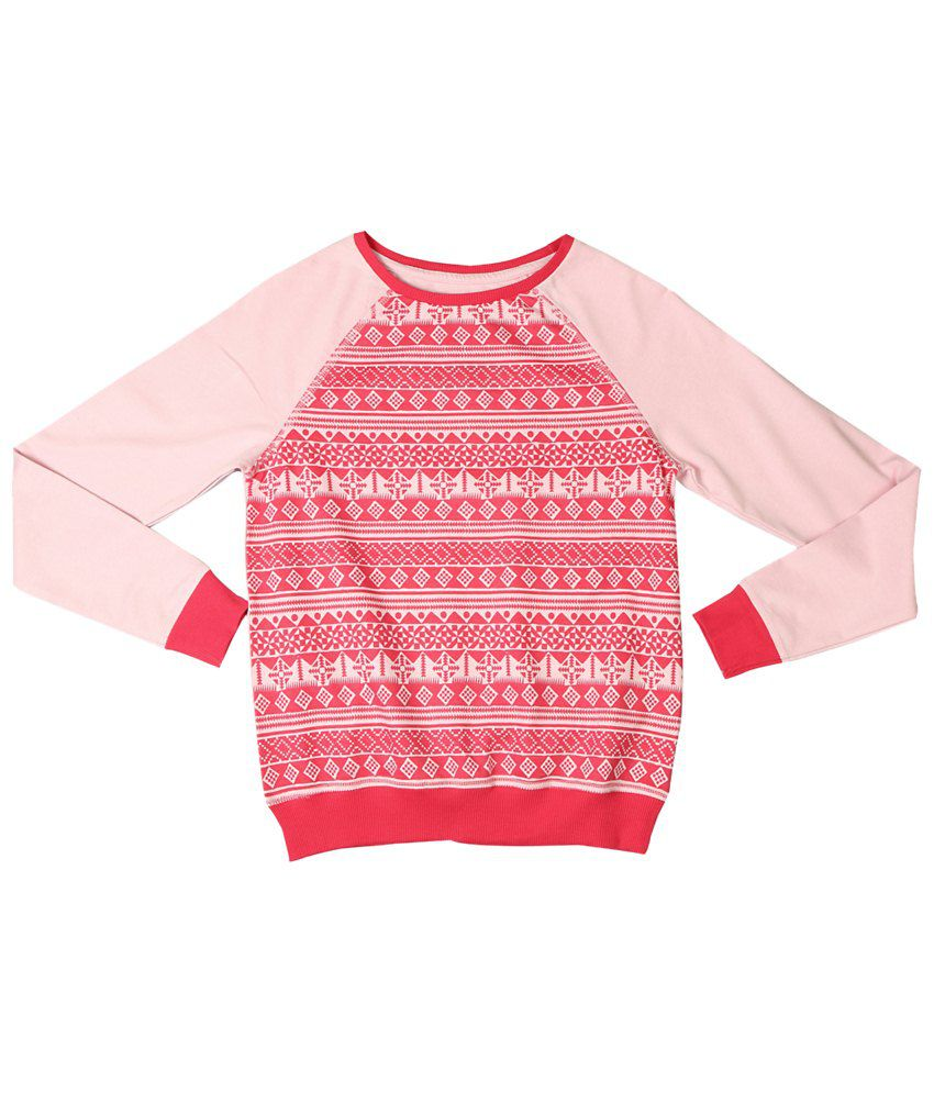 Allen Solly Pink Patterned Sweatshirt