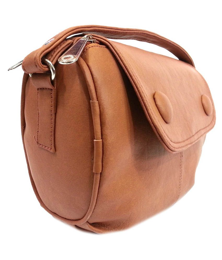 Belladona Elegant Brown Sling Bag - Buy Belladona Elegant Brown ...