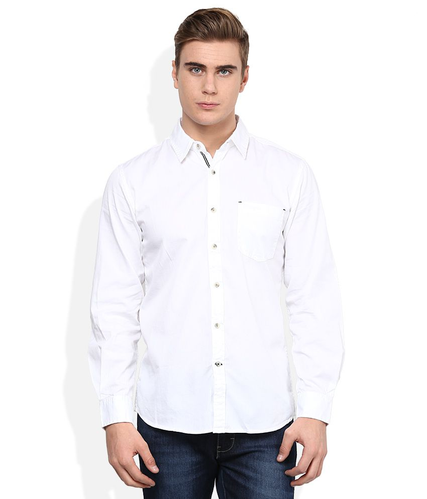 f4bfc33d Wrangler White Shirt - Buy Wrangler White Shirt Online at Best Prices in  India on Snapdeal
