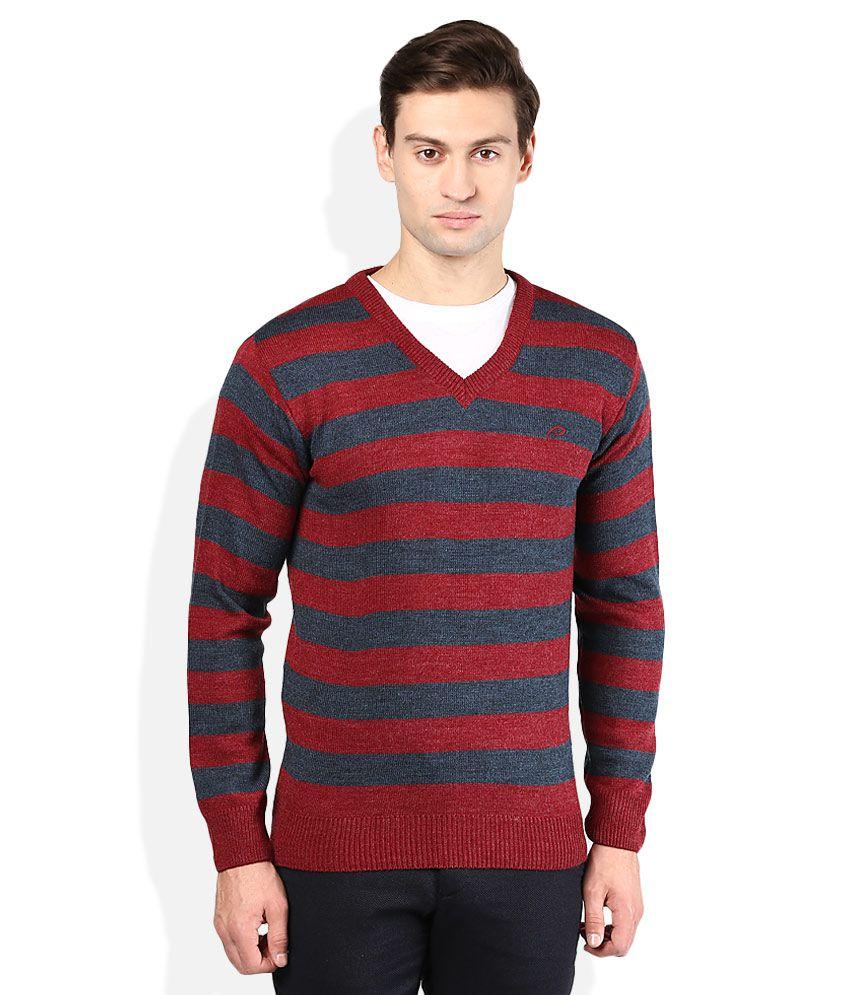 Proline Red V-Neck Sweater