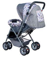 Happy Kids Stroller with Reversible Handle (Grey)