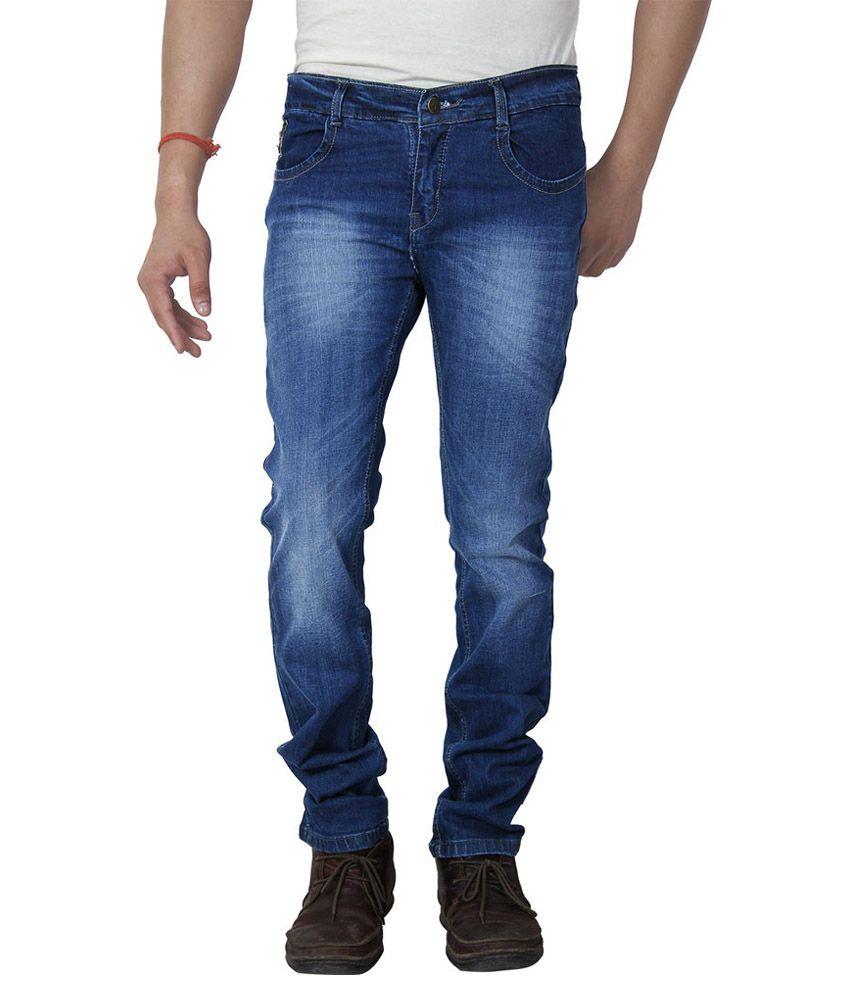 K L Creation Blue Regular Fit Jeans - Set Of 5
